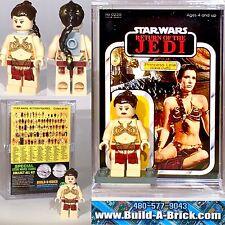 Star Wars Slave Leia Princess MINIFIGURE w Display Case Lego Minifig Custom 229z