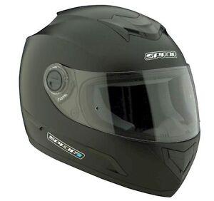 SPADA-STEALTH-MOTORCYCLE-HELMET-X-LARGE-MATT-BLACK-MOTORBIKE-F43