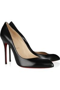 a183b8b15a1 Details about New Christian Louboutin Corneille Black Leather 100mm Pumps  Size 36.5EU/6US