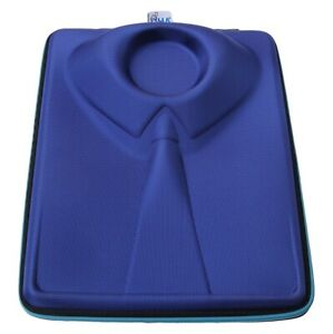 QHA Mens Womens Travel Shirt Case Rigid Bag With Crease Free Folding Pad-Blue