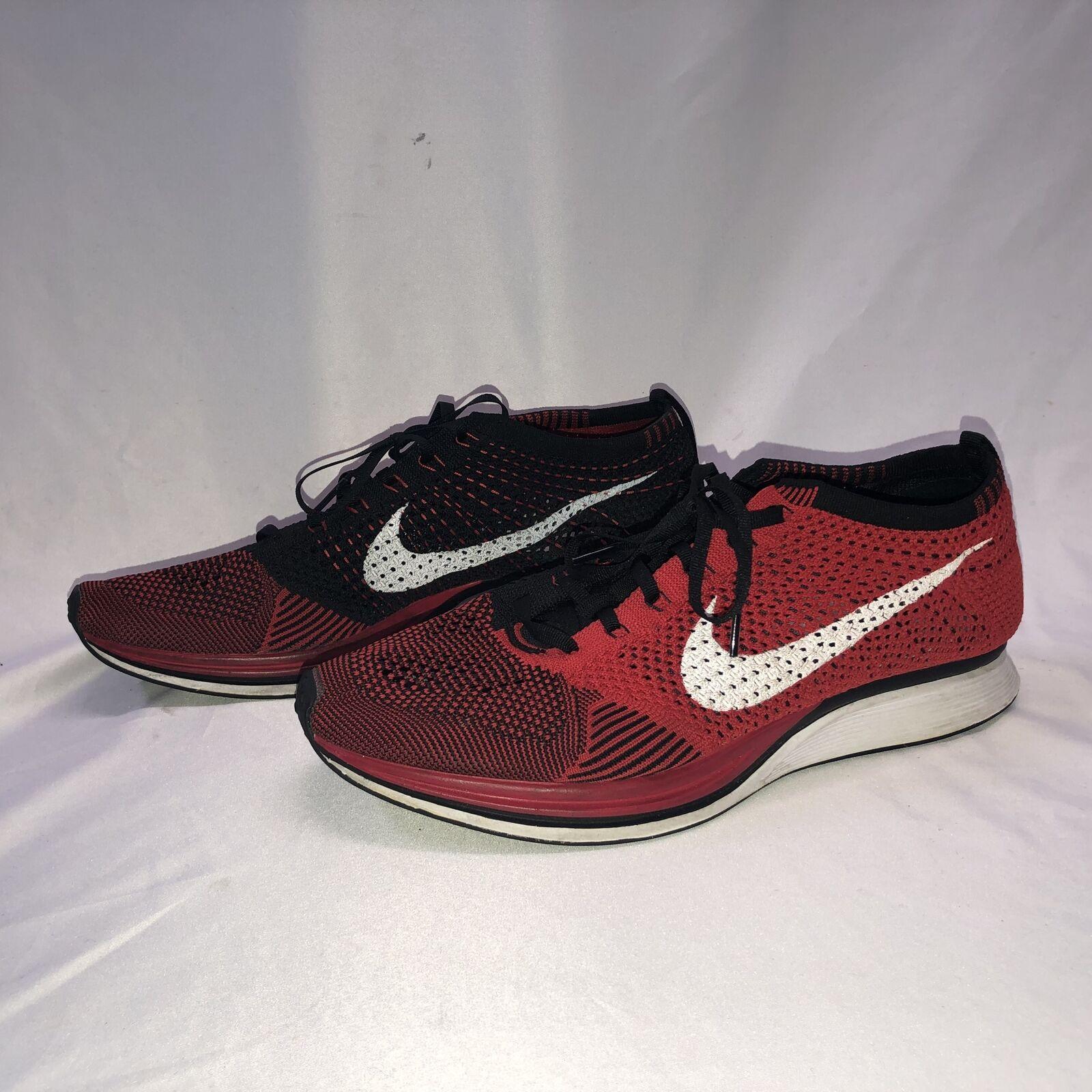 Nike Flyknit Racer University Red White US 11 cm Mens Running RARE