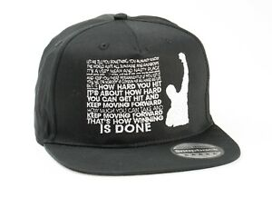 Details about COOL ROCKY BALBOA QUOTES FUNNY SNAPBACK EMBROIDERED RAPPER  CAPS HIP-HOP HATS