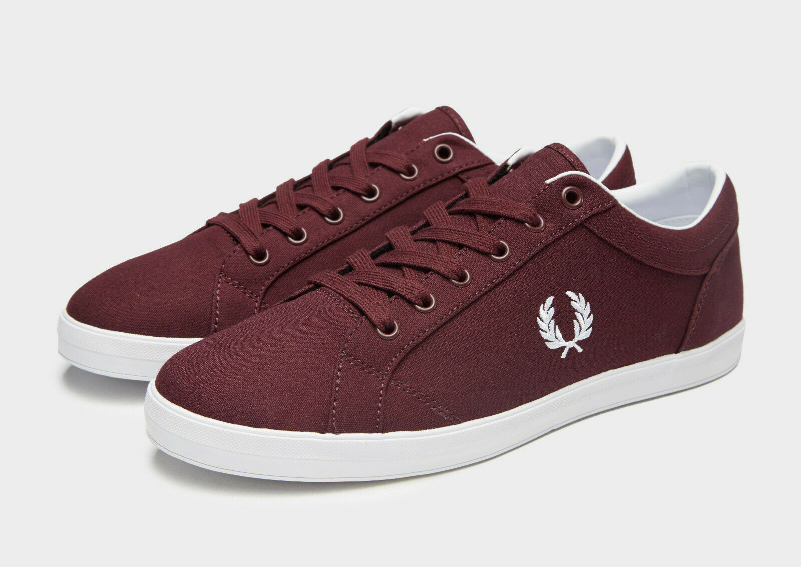 Fred Perry Baseline Ox Blood Canvas Trainers UK 11 11 11 Brand New In Box 150fbb
