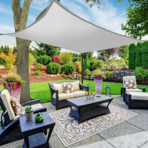 Pro 4X5M Sonnensegel Sonnenschutz 90g//m² Windschutz 70/% UV wasserdicht Garten DE