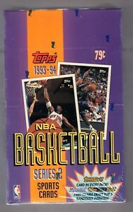 1993-94-TOPPS-NBA-BASKETBALL-SERIES-2-TRADING-CARD-FACTORY-SEALED-BOX-36-PACKS