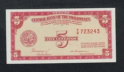 PHILIPPINES 5 CENTAVOS 1949 P126 UNCIRCULATED
