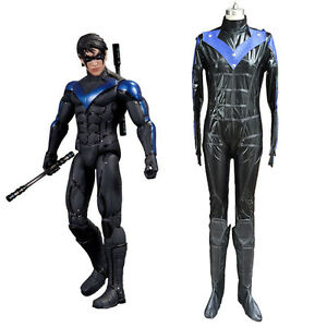 d421e7210762 Image is loading Young-Justice-Cosplay-Nightwing-Costume-Jumpsuit-Uniform -Outfit-