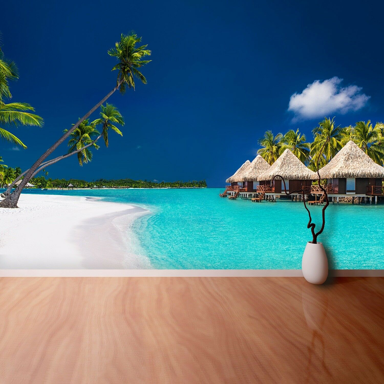 Fototapete Selbstklebend Einfach ablösbar Mehrfach klebbar Strand Palmen