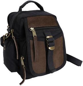 Black-Mini-Compact-Multi-Pocket-Travel-Shoulder-Bag-with-Shoulder-Strap