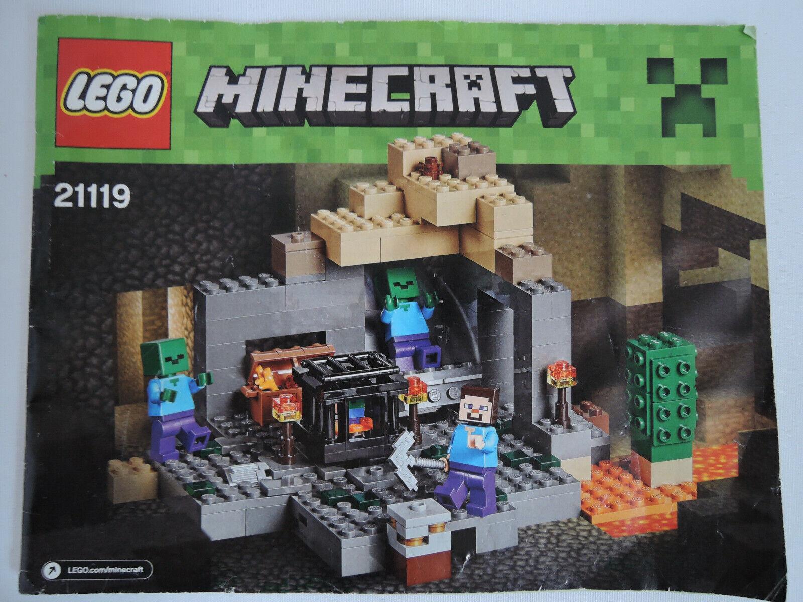 LEGO Minecraft 21119 - Das Verlies   kpl. + BA + Figuren neuw. TOP  | Outlet