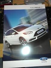 FORD - FOCUS ST mk3 - 2012 / 2013 MODEL - SALES BROCHURE - 8 PAGES - MINT COND