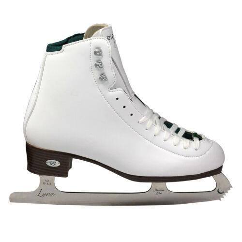 White Riedell 119 Emerald Women/'s Figure Skates NEW