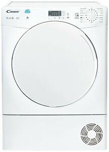 Candy CSC9LF 9KG LED Display NFC Sensor Dry Condenser Tumble Dryer - White