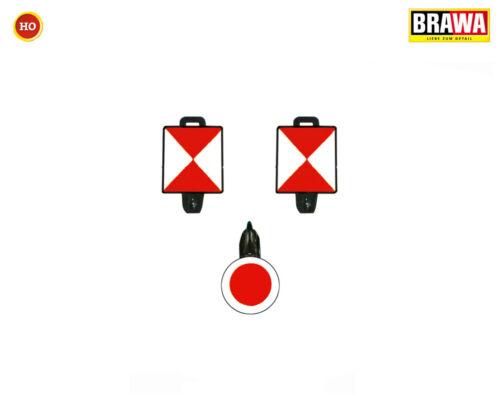 Brawa 2231 Zugschluss-Set I+II +++ NEU in OVP 3er-Set für Güterwagen Ep