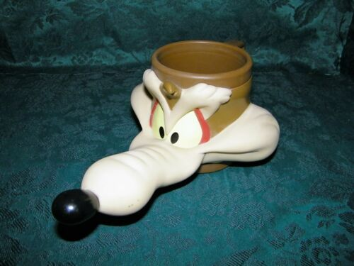 Looney Tunes Wiley E. Coyote Wiley Head 3D Character Mug Cup Plastic 1992 VTG