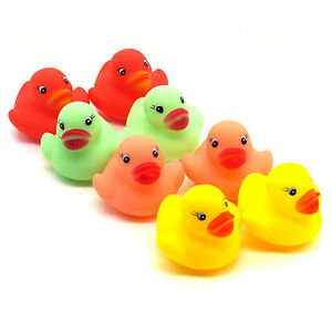 12X-Cute-Rubber-Ducks-Bathtime-Squeaky-Mini-Bath-Toy-Water-Play-Kids-Toddler-Hot