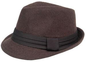 Cool4-TRILBY-FILZ-HUT-Braun-Tracht-Traveller-Filzhut-Vintage-Hutband-Party-WH01