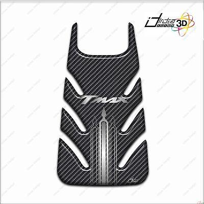 Accurato Adesivo Sportello Serbatoio 3d Sport Per Scooter Tmax 2001-2007 Carbon Argento