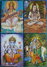 Hindu Postcard Set (11) GANESH - SARASWATI - SHIVA - RADHA KRISHNA