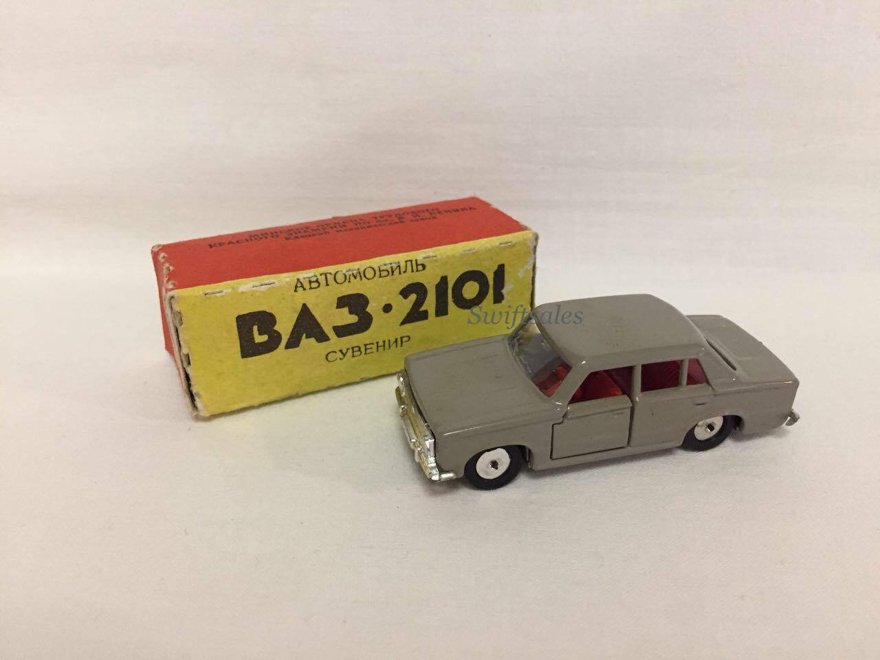 Vintage USSR Soviet Model VAZ 2101 Diecast Car Made In Belarus - New In Box  2