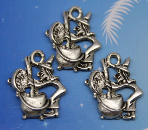 Wholesale 6//20//50pc retro style witch alloy charms pendant 19x16mm