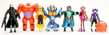 Big Hero 6 PVC Baymax Hiro Fred GoGo Tomago Yokai Action Figure Toys 8 pcs Set