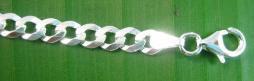 MADE IN ITALY 925 Sterling Silver 14 to 20mm ID  BRACELET Curb open HEART GIRL