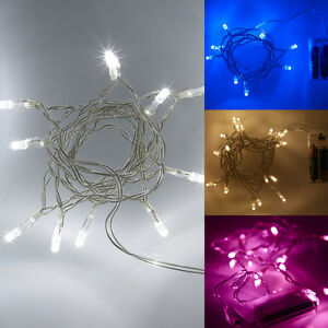 Battery-Operated-LED-Christmas-Fairy-Lights-10-or-20-LED-White-Pink-Blue-Red