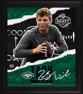 "Zach Wilson New York Jets Frmd 15"" x 17"" 2021 NFL Draft Day Collage - Facsimile"