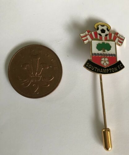Southampton Football Club Crest Lapel Stick Pin Badge Tie
