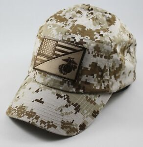 USMC United States Marine Corps - EGA-US Flag Patch Mesh Hat Olive Digital  Camo 8dd998aff26