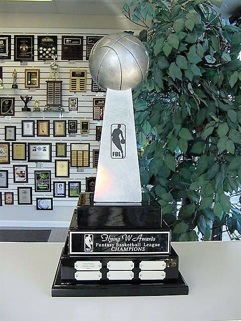 3 TIER LARGE FANTASY BASKETBALL PERPETUAL AWARD TROPHY 38 YEARS LOMBARDI COOL