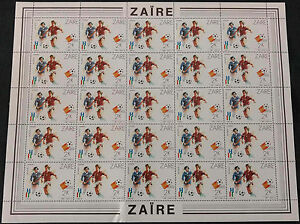 Zaire 1982, 2k World Cup Football MNH Full Complete Sheet #V4162