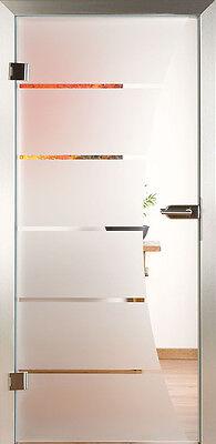 Piktura Ganzglastür > Modell 3045 < Glastür Glastüren Ganzglastüren | Sandstrahl