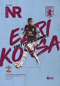 ASTON-VILLA-v-SOUTHAMPTON-19-20-Premier-League-Programme-Free-UK-Post