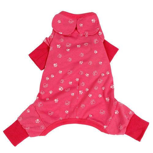 Dog Clothes Jumpsuit Pet Product Clothing Puppy Shirt Cat Cozy Pajama Rose Blue