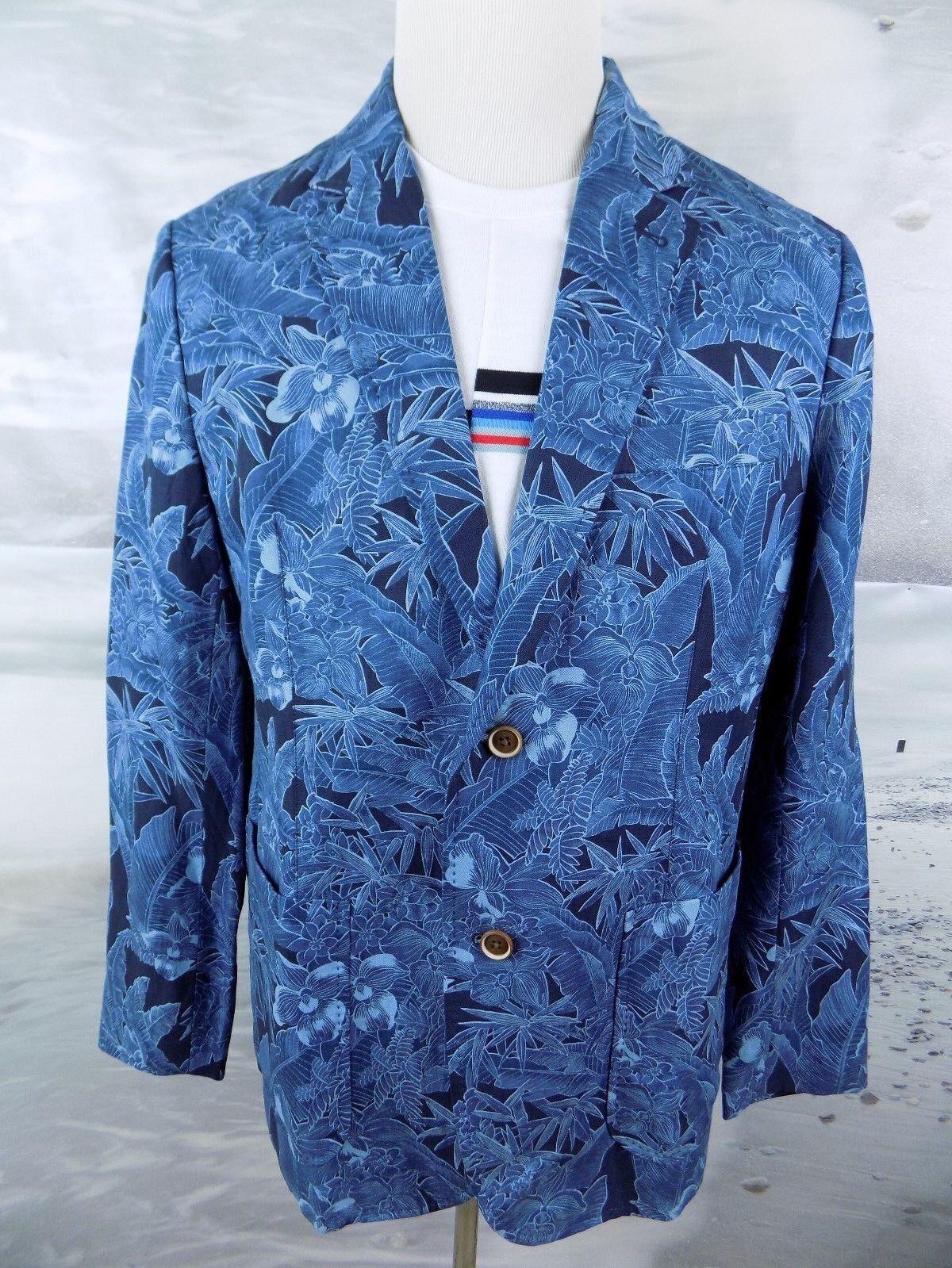 325 NWT Tommy Bahama Blazer Oasis Blooms Blau Größe-Large