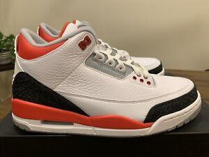Nike Air Jordan 3 Retro Fire Red 2013 Size 8.5 | eBay