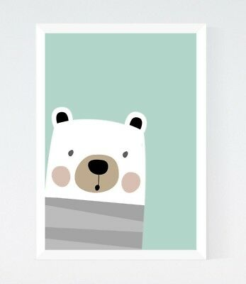 You Are So Loved Watercolour Bear Nursery Kids Room Print Home Wall Art BD10