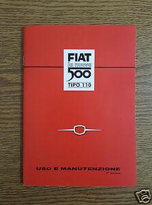 Manuale-uso-e-manutenzione-Fiat-Nuova-500-N-dal-1957-al-1960-Owner-039-s-manual