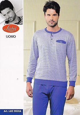 Liabel With Rubber Bands Luc9530a Long Man Pajamas 100% Stretch Cotton Elegant Shape