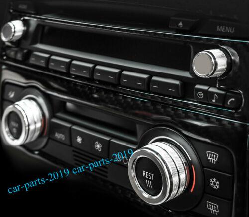 For BMW 3 Series E90 E92 E93 2006-2012 Silver Interior Air Condition Ring Trim
