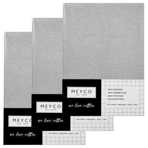 Meyco Jersey Spannbetttücher Spannbettlaken 3er Pack 40x80//90 cm hellgrau TOP