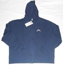 San Diego Chargers Hoodie Ladies 2XL Navy Full Zip Reebok NFL Stitched