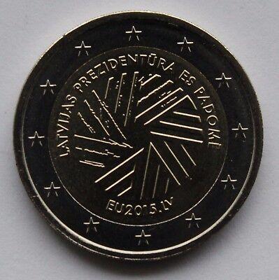LATVIA 2 Euro commemorative coin 2015 Presidency of the Council of the EU