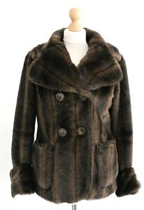 River Brown 8 invernale Faux Taglia Island Giacca 10 Fur Coat Teddy Bear Snuggly S PP4wr