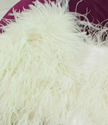 Manteau de plume fourrure fourrure fourrure manteau de de de d'autruche fourrure ivoire fourrure de de réel de rgwrq1xB