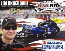 2013 Jim Underdahl Bad Boy Buggies Suzuki Pro Stock Motorcycle NHRA postcard
