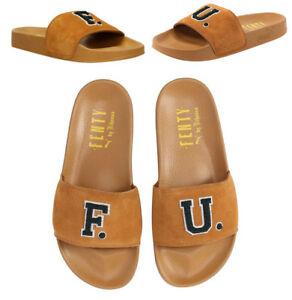 Puma Fenty Rihanna Suede Leadcat FU Slides Flip Flops Sandal 367087 ... 72de0fce614
