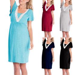 Umstandsmode Umstandskleid Schwangerschaftkleid Stillkleid Schwangere Nachthemd